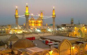 دعا و قرائت دستهجمعی دعای فرج در اعتاب مقدسه عراق همزمان با تحویل سال جدید