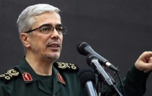 فرمانده سرلشکر باقری: تحرکات نظامی آمریکا در منطقه را به دقت رصد می کنیم