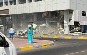 انفجار وحشتناک در ابوظبی امارات + فیلم
